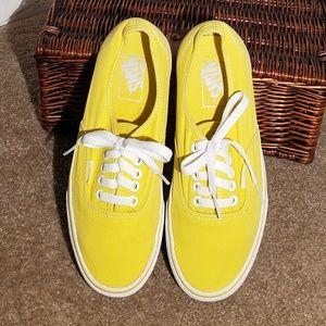 Ladies yellow Van's size 8.5